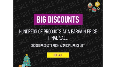 Big discounts - hundreds of products at a bargain price