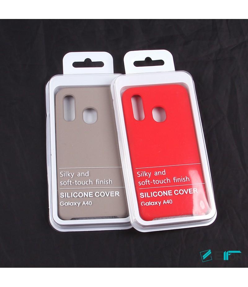 Soft touch Full Silicone Case für Galaxy A40, Art.:000537