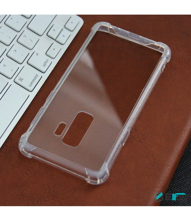 Elfon Drop Case TPU+PC hart kratzfest kristallklar für Samsung Galaxy S9 Plus, Art.:000099