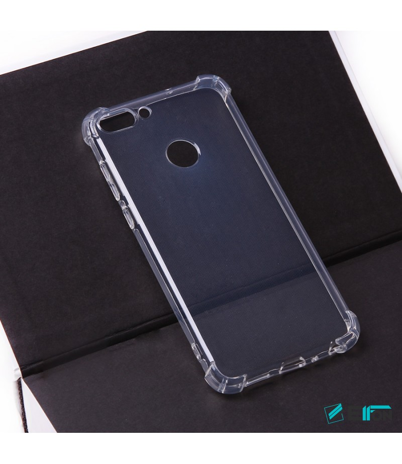 Elfon Drop Case TPU Schutzhülle mit Kantenschutz für Huawei P Smart, Art.:000228