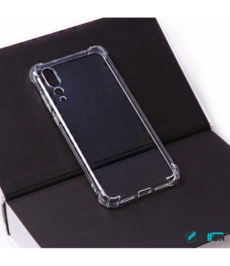 Elfon Drop Case TPU Schutzhülle mit Kantenschutz für Huawei P20 Plus, Art.:000228