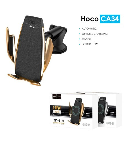Hoco CA34 Elegant Automatic Induction Wireless Car Charging Holder, Art.:000532
