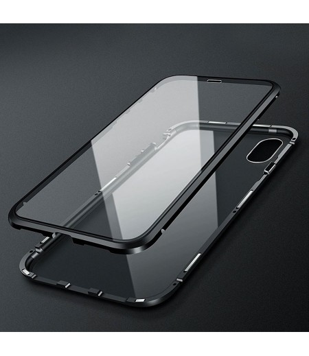 360° Metal Magnetic Case 2 side Glass  for iPh 11 Pro (5.8), Art:000496-1