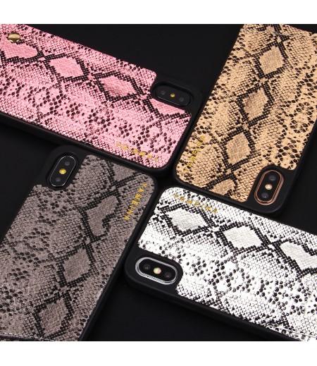 Snake Skin Cross-body Chain Case für iPhone X/XS, Art.:000007