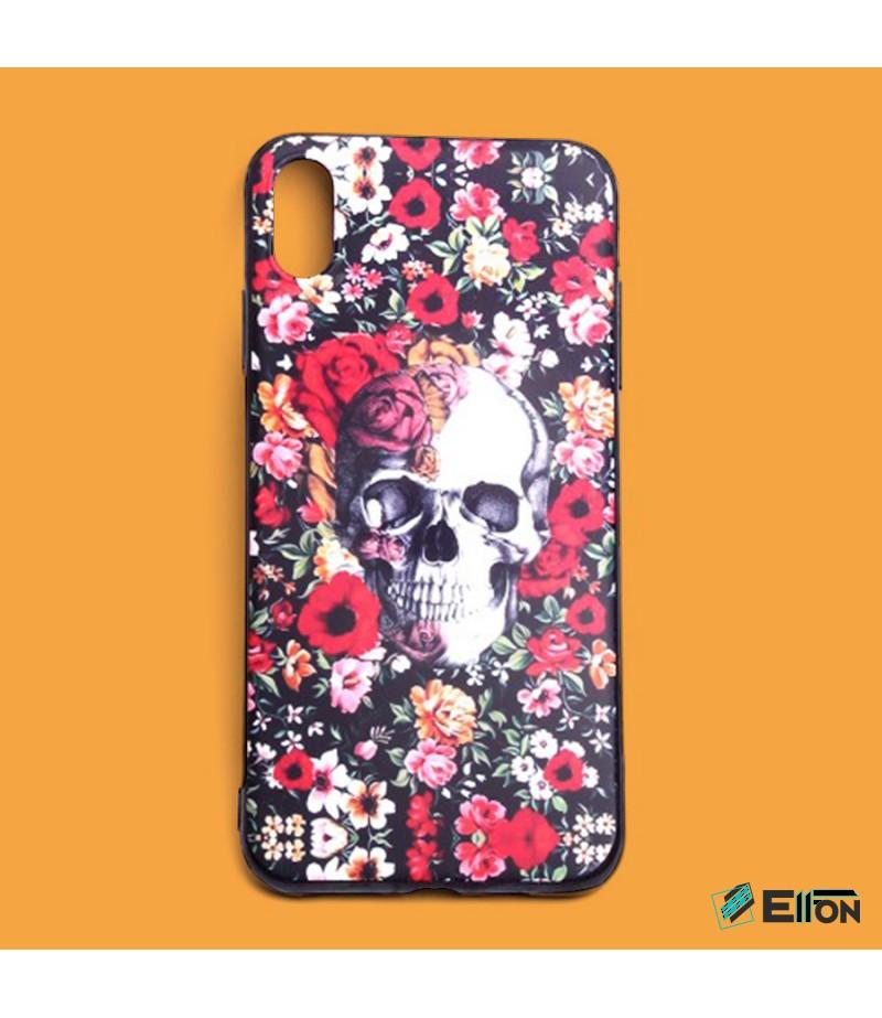 Matt Skull in Flowers Print Case für Samsung Galaxy S9 Plus, Art.:000448