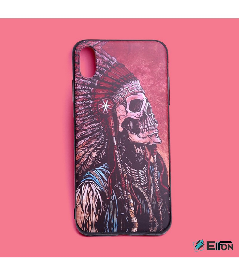 Matt Indian Skull Print Case für Samsung Galaxy S9 Plus, Art.:000449