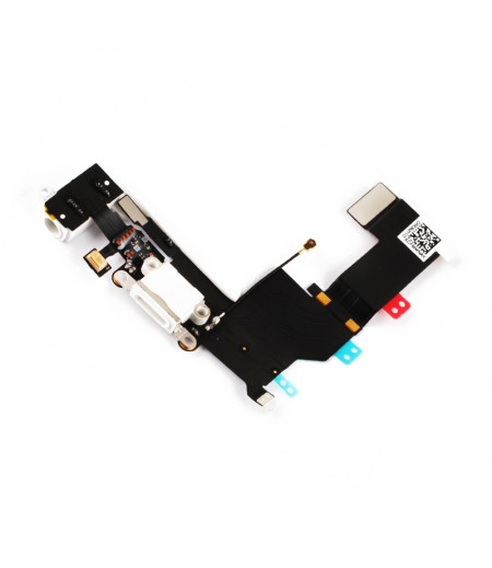 For iPhone 5S System Connector Flex White, SKU: APIPH5S311