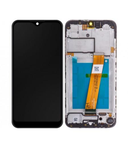 Samsung Galaxy A01 A015F Display And Digitizer Black with frame