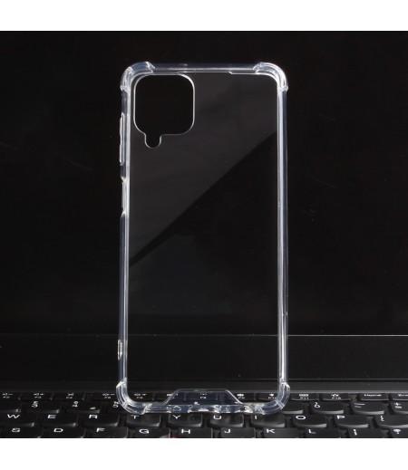 Vorpräparierte Hülle mit LöchernTPU+PC hart kristallklar für Samsung Galaxy A12 4G Art.:000004