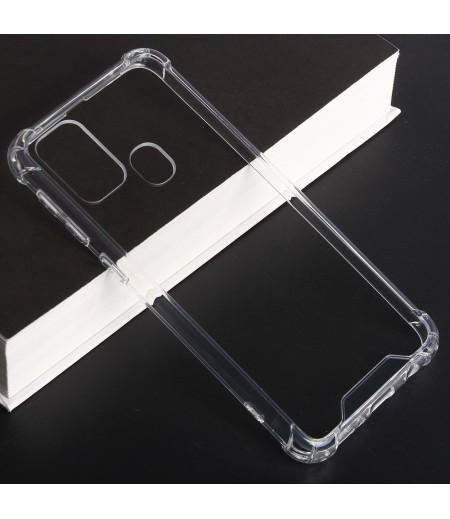 Vorpräparierte Hülle mit LöchernTPU+PC hart kristallklar für Samsung Galaxy A21S, Art.:000004