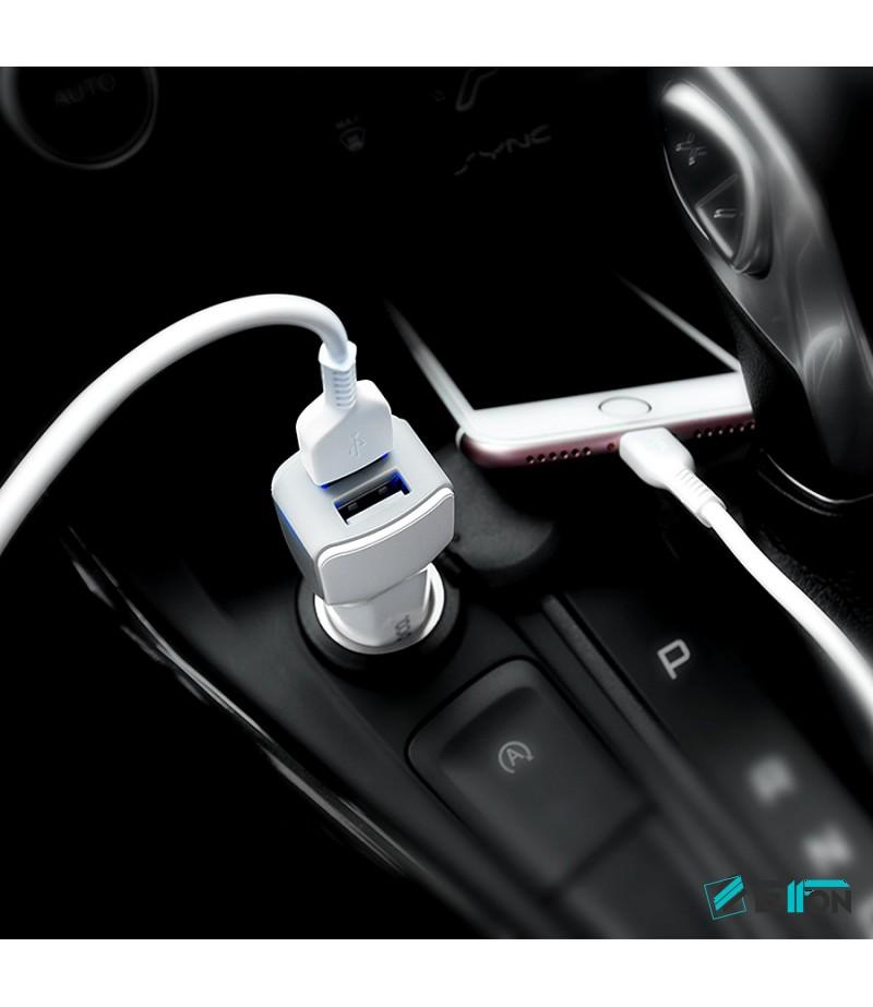 Hoco Z23 Dual-Port Auto Ladegerät mit Lightn. Kabel, Art.:000418