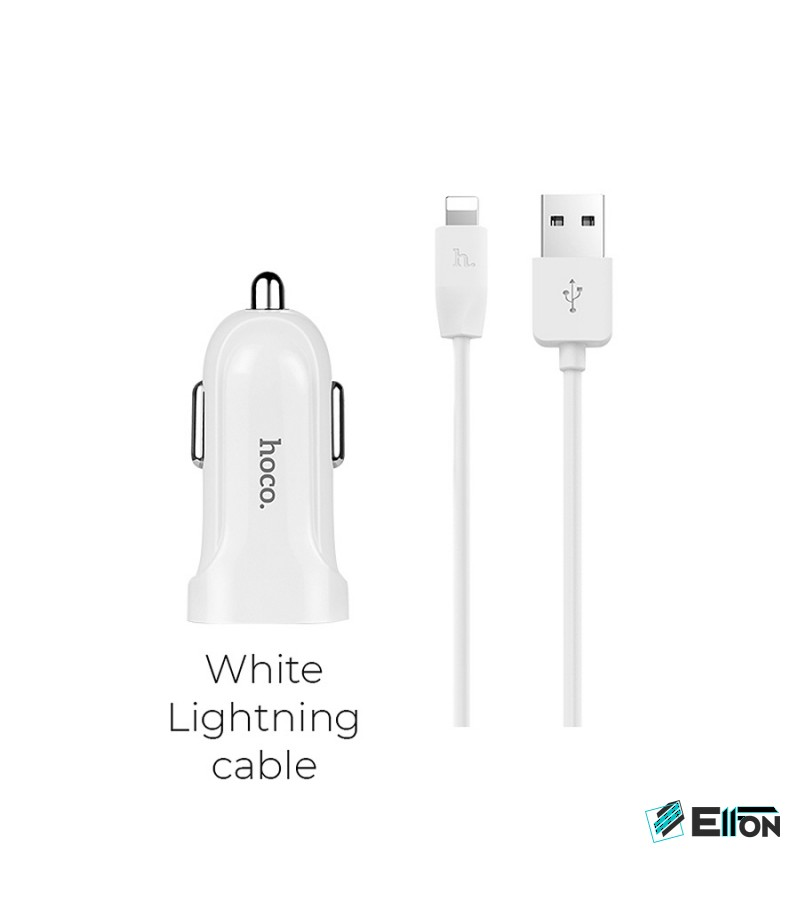 Hoco Z2 Car Charger Set with Lightn. Cable, Art.:000421
