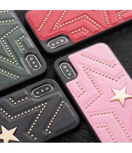 Luxus PU leder sterne cross-body case mit Band für iPhone X/XS, Art.:000352