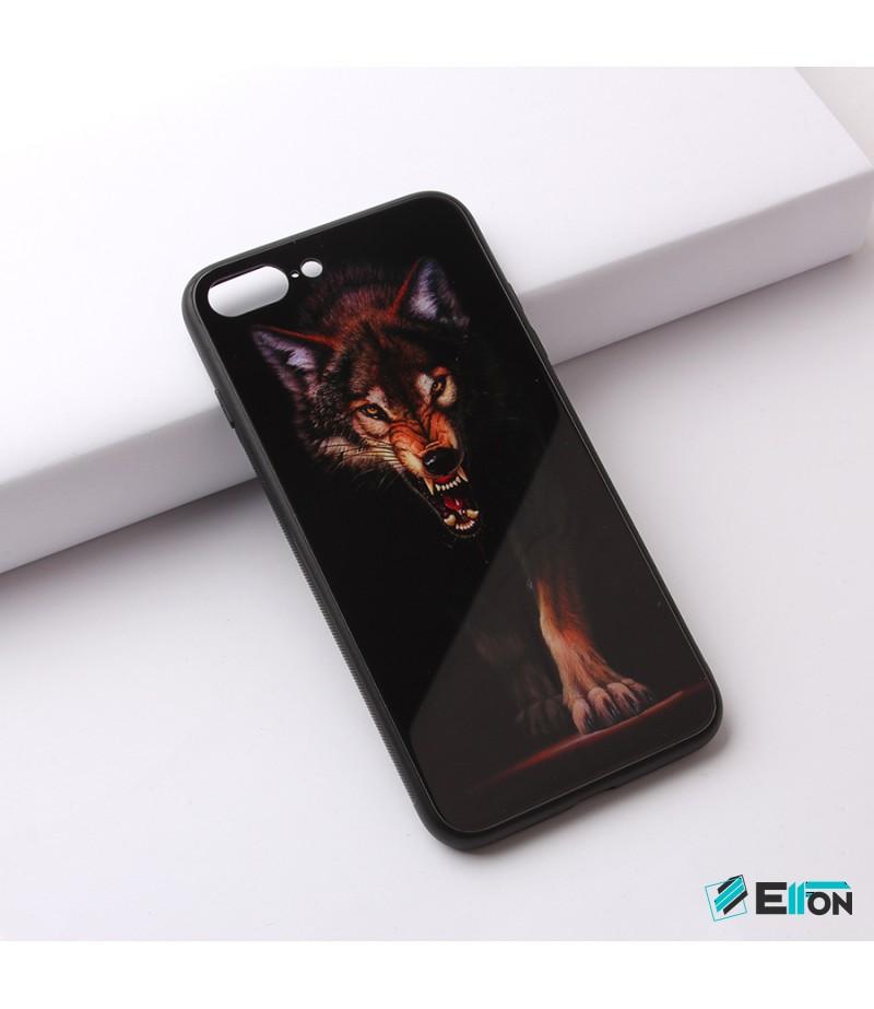 Glascase mit Musteraufdruck (Wolf) für Samsung S8 Art.:000215