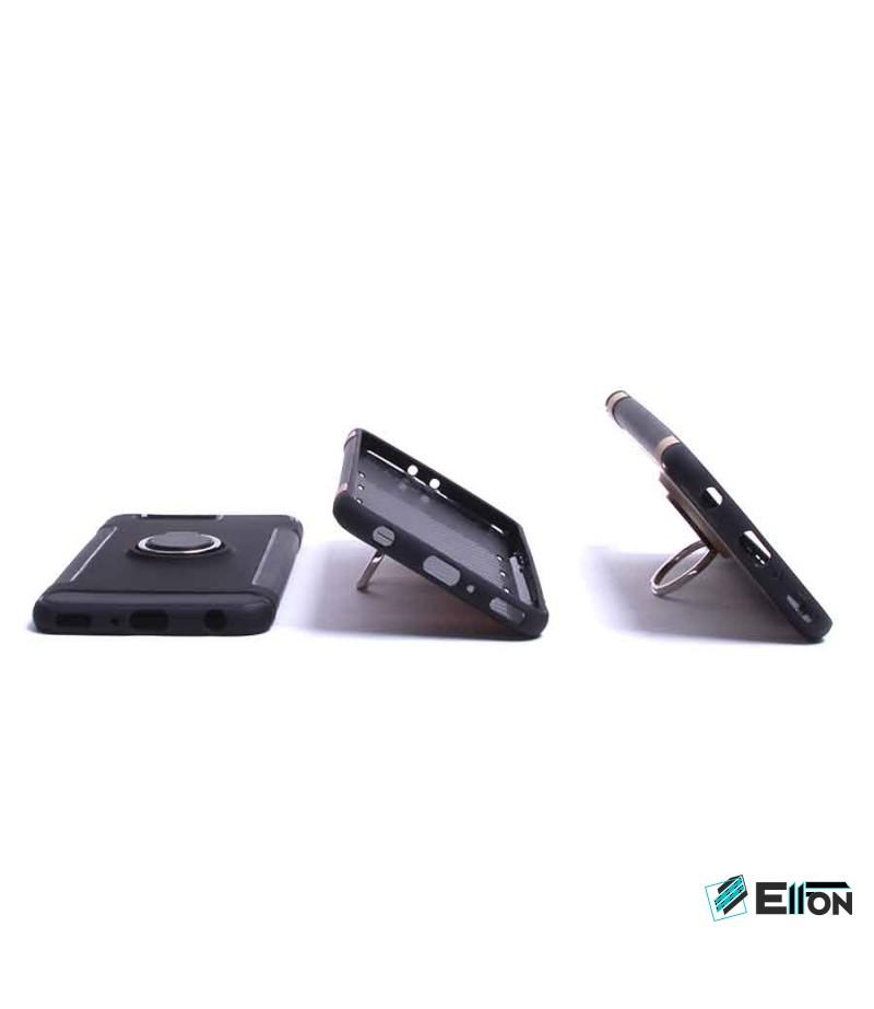 Carbon Design Case mit Magnet und Stand für Huawei Ascend P10 Plus, Art.:000049