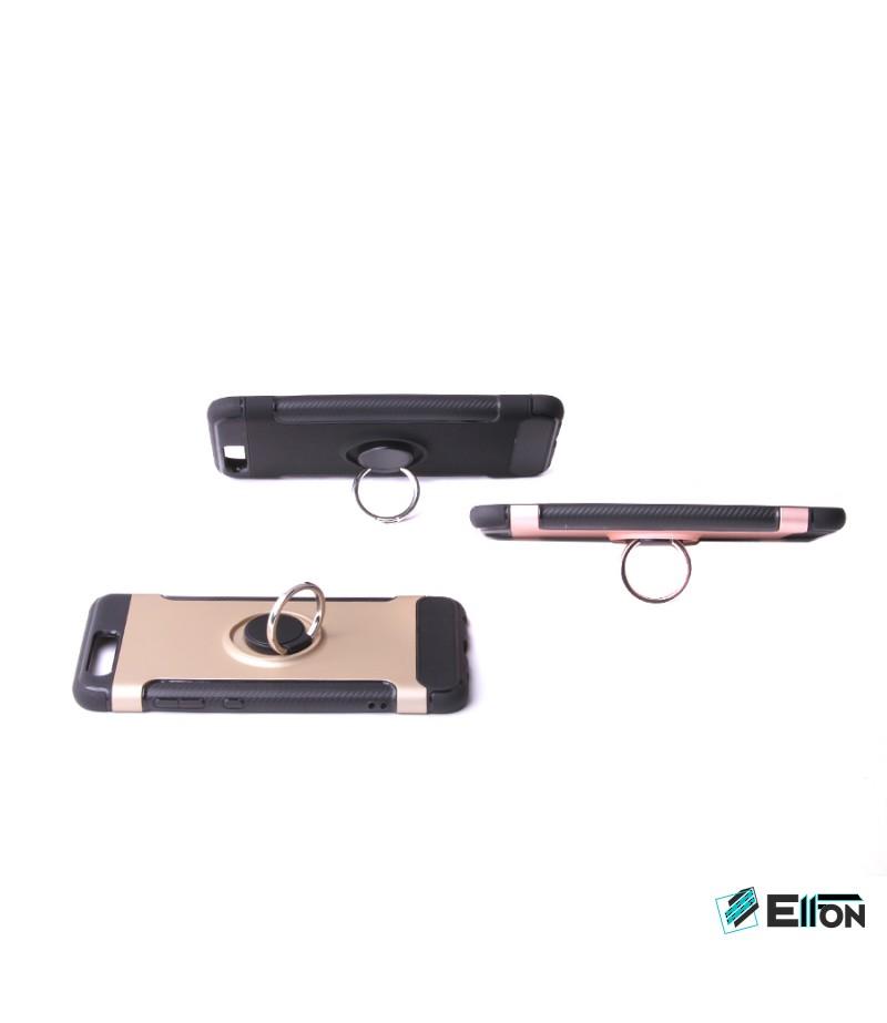 Carbon Design Case mit Magnet und Stand für Huawei P10, Art.:000049