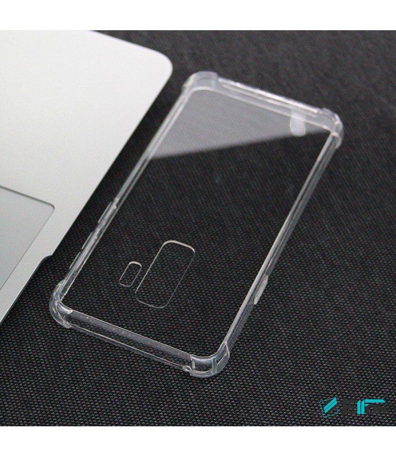 Elfon Drop Case TPU Anti-Rutsch Kratzfest Crystal (1mm) für Samsung Galaxy S9 Plus, Art.:000308
