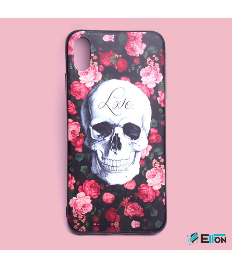 Matt Love Skull Print Case für Samsung Galaxy S9 Plus, Art.:000444