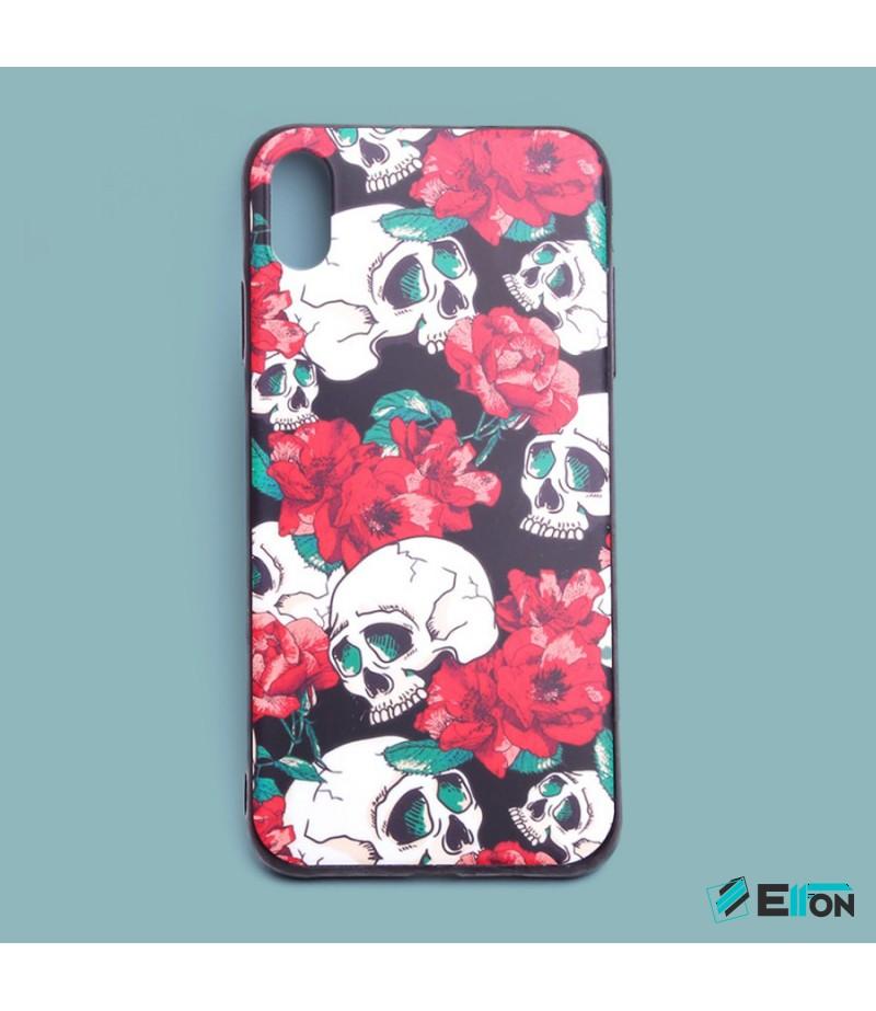 Matt Flowers und Skulls Print Case für Samsung Galaxy S9 Plus, Art.:000445