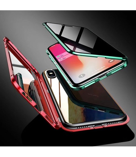 360 grad Metal Magnetic Case Privacy 2 side Glass für iPhone XS Max, Art:000496-2