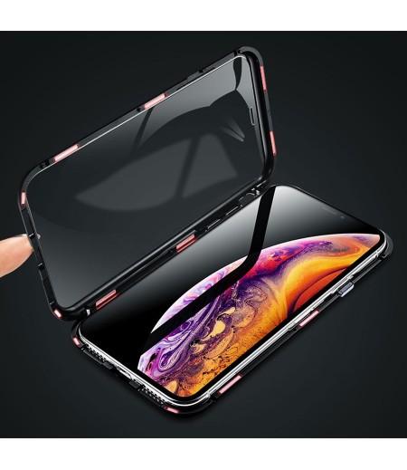 360 grad Metal Magnetic Case 2 side Glass für Huawei Mate 20 Pro, Art:000496-1