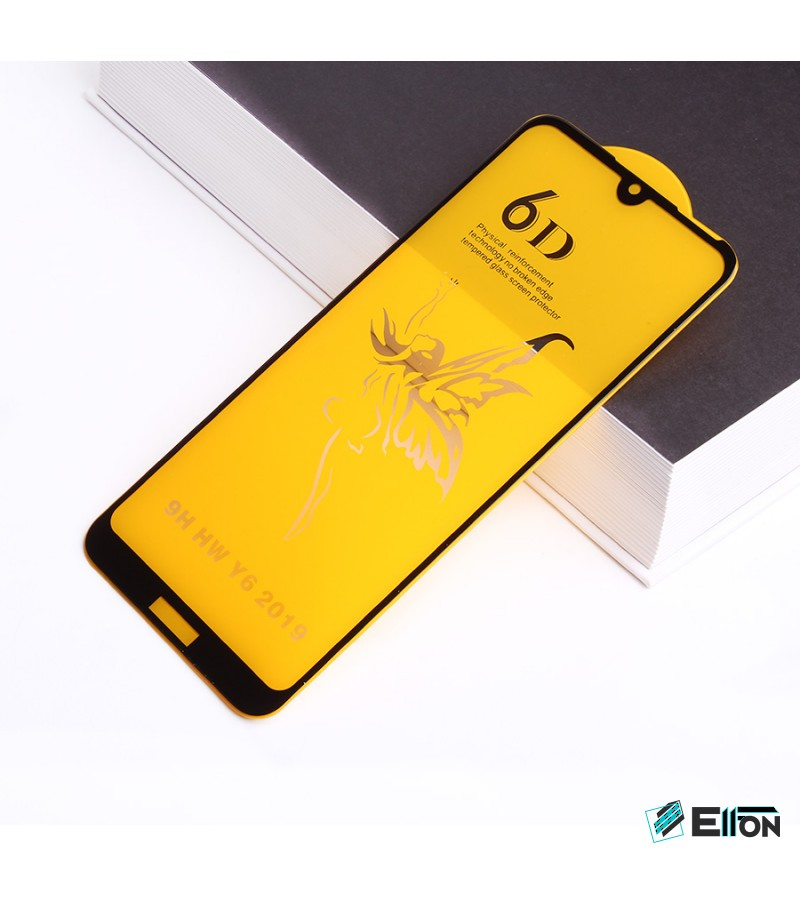 Full Glue Curved Tempered Glass Screen Protector für Huawei Y6 2019/ Y6 Pro 2019, Art:000298