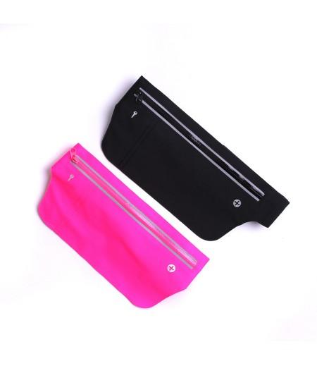 Ultra dünne Wasserdichte Fitness Gürteltasche universal mit LED für Nachtsichtbarkeit, art:000117