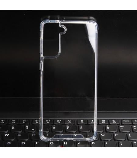 Premium Elfon Drop Case TPU+PC hart kratzfest kristallklar für Samsung S21, Art:000099-1
