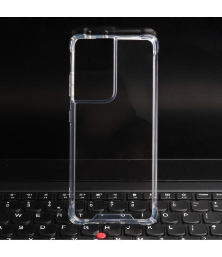 Premium Elfon Drop Case TPU+PC hart kratzfest kristallklar für Samsung S21 Ultra, Art:000099-1