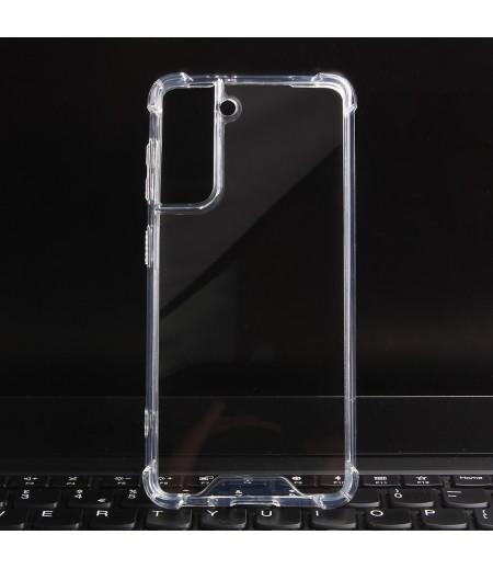 Vorpräparierte Hülle mit LöchernTPU+PC hart kristallklar für Samsung Galaxy S21, Art.:000004