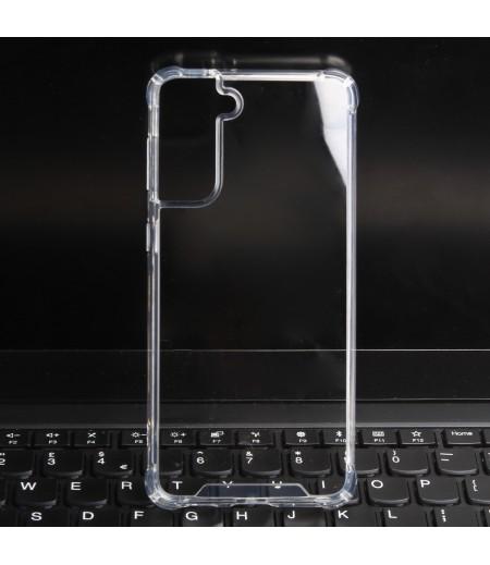 Vorpräparierte Hülle mit LöchernTPU+PC hart kristallklar für Samsung Galaxy S21 Plus, Art.:000004