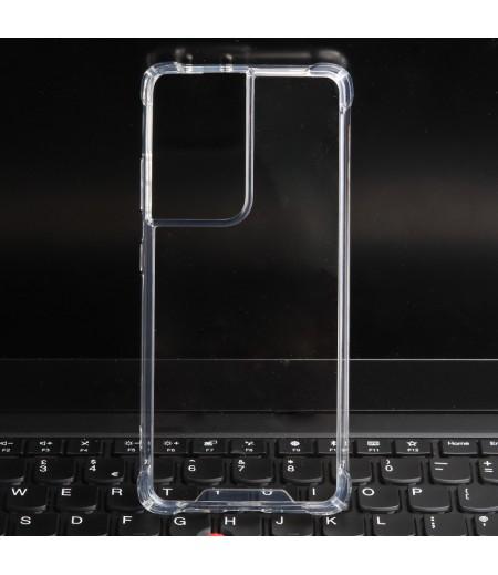 Vorpräparierte Hülle mit LöchernTPU+PC hart kristallklar für Samsung Galaxy S21 Ultra, Art.:000004