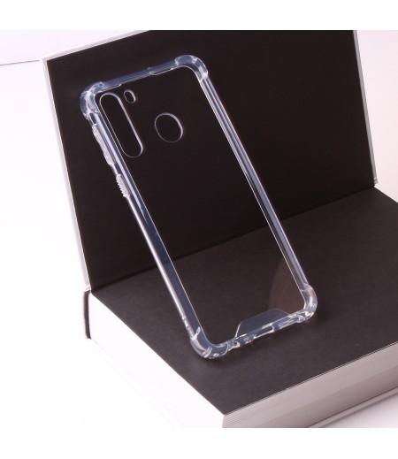 Vorpräparierte Hülle mit LöchernTPU+PC hart kristallklar für Samsung Galaxy A21, Art.:000004