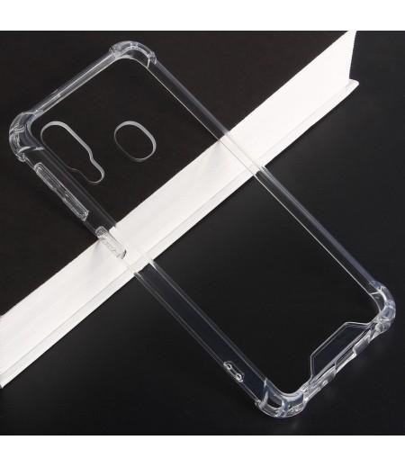 Vorpräparierte Hülle mit LöchernTPU+PC hart kristallklar für Samsung Galaxy A20E, Art.:000004