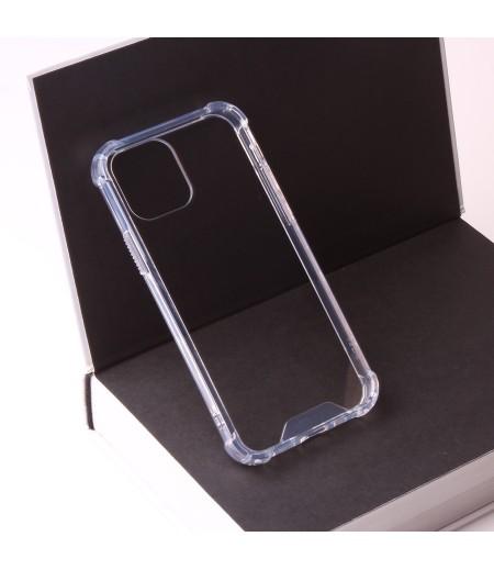 Vorpräparierte Hülle mit LöchernTPU+PC hart kristallklar für iPhone 12 Mini (5.4) Art.:000004