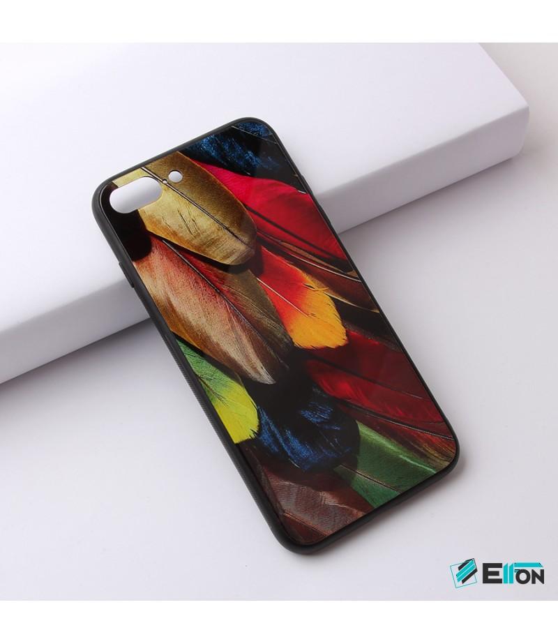 Glascase mit Musteraufdruck (Federn) für Samsung S8 Art.:000220