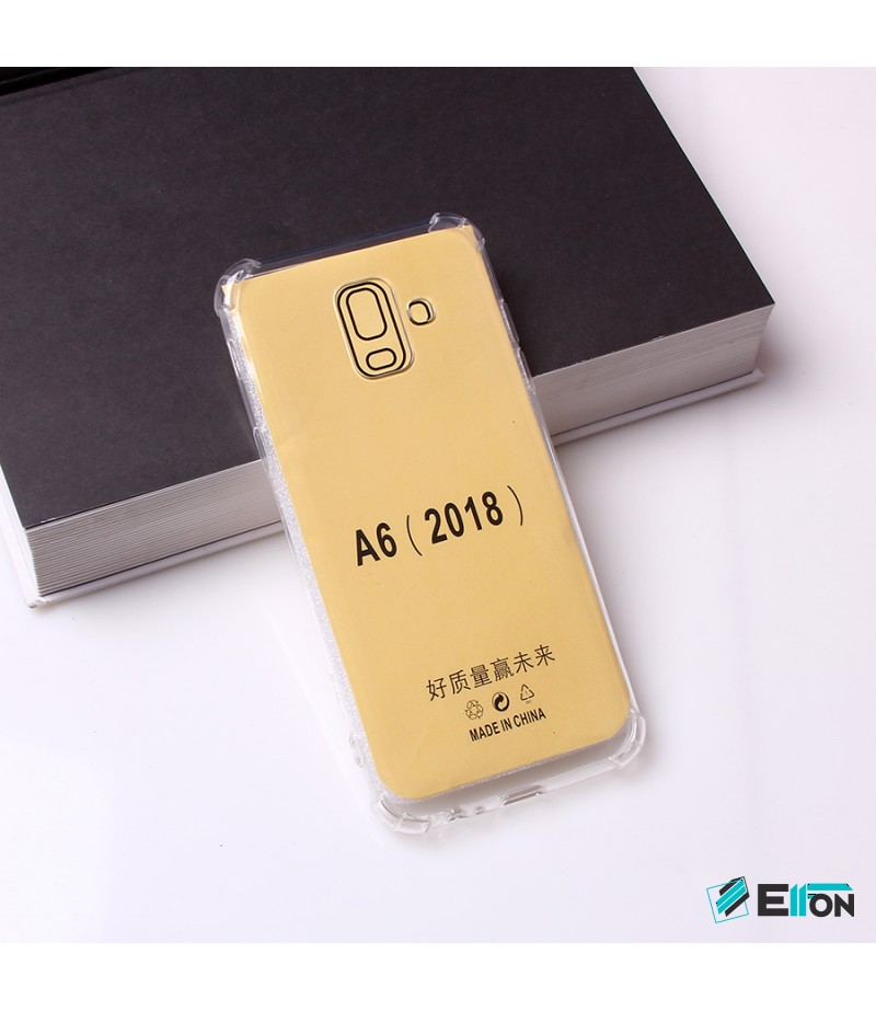 Drop Case TPU Schutzhülle (1mm) mit Kantenschutz für Samsung Galaxy A6 (2018), Art:000494