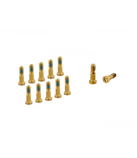 For iPhone 8, iPhone 8 Plus Bottom Screw Set Gold (10pc), SKU: 32B737ED54