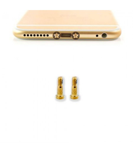 For iPhone X Bottom Screw Set Gold (2pc), SKU: 8084661D95