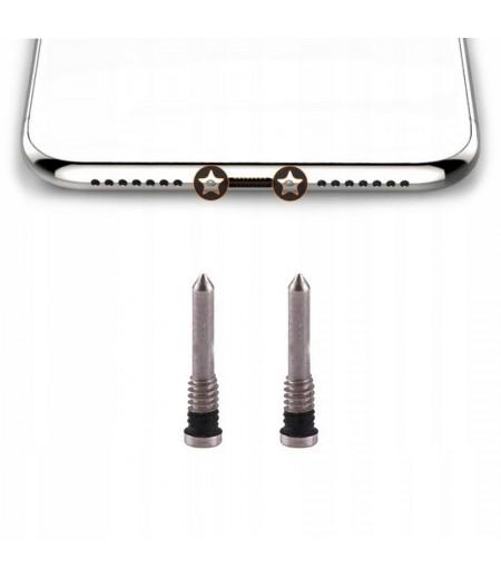 For iPhone X Bottom Screw Set Silver (2pc), SKU: 80825D104E