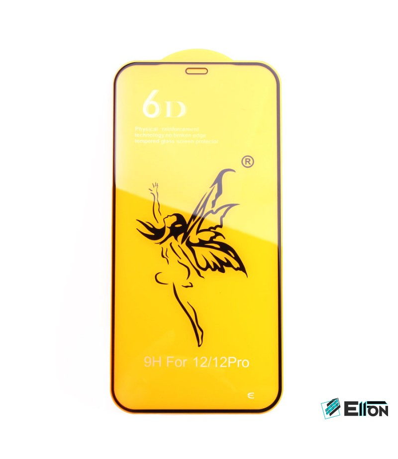 Full Glue Curved Tempered Glass Screen Protector für iPhone 12/ 12 Pro (6.1), Art:000298