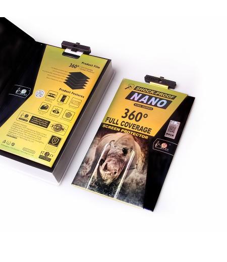 360 grad Full Cover TPU Nano (front + back) Glass für Galaxy A8 Plus, Art.:000302
