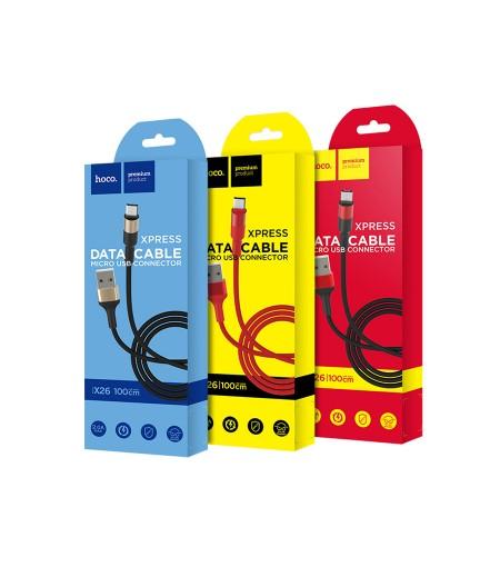 Hoco X26 Xpress Lade Kabel für Micro 1m, Art.:000392