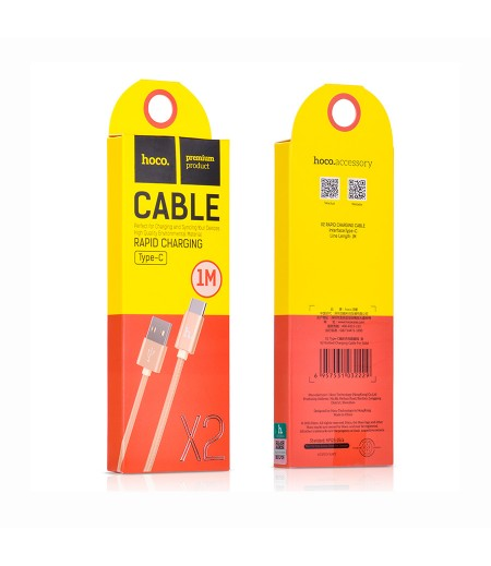 Hoco X2 Knitted Typ-C Charging Cable 1m, Art.:000402