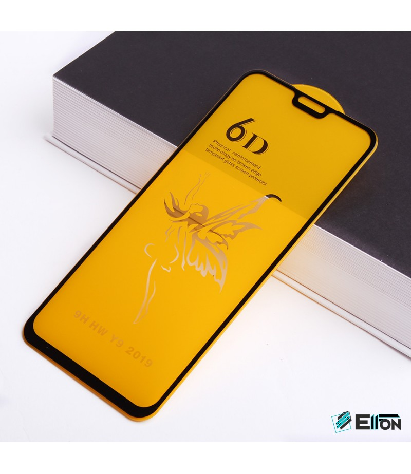 Full Glue Curved Tempered Glass Screen Protector für Huawei Y9 2019/  Honor X8 / Y8S , Art:000298