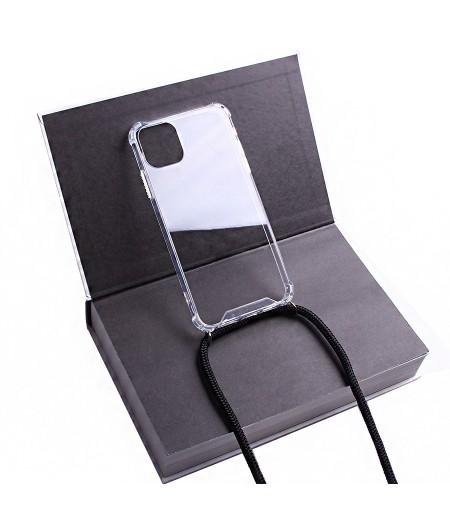 Crossbody-Handykette (with Silver Accessories) für iPhone 11 Pro Max, Art:000593