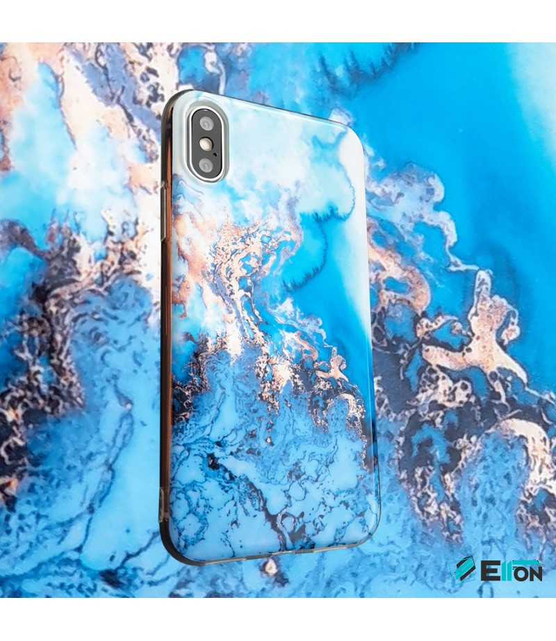 Blue und Gold Liquid Marble Print Case für Samsung S8 Plus, Art.:000369