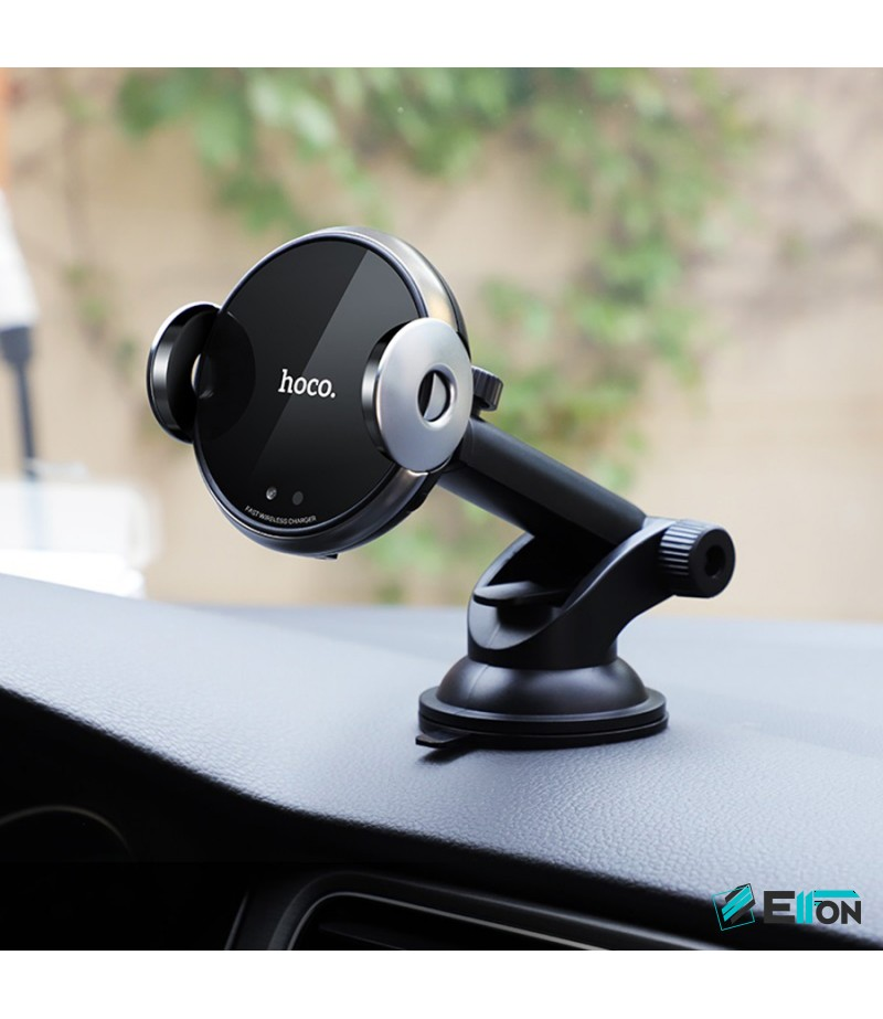 Hoco CA48 2-in1 Automatic induction wireless charging In-Car Holder, Art.:000543