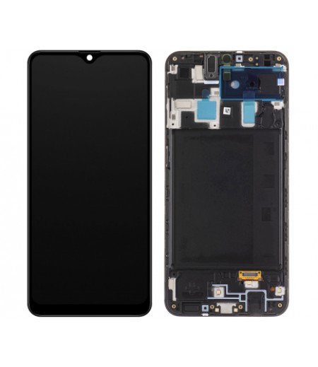 Samsung A20 A205F / M10s M107 Display and Digitizer Black with frame