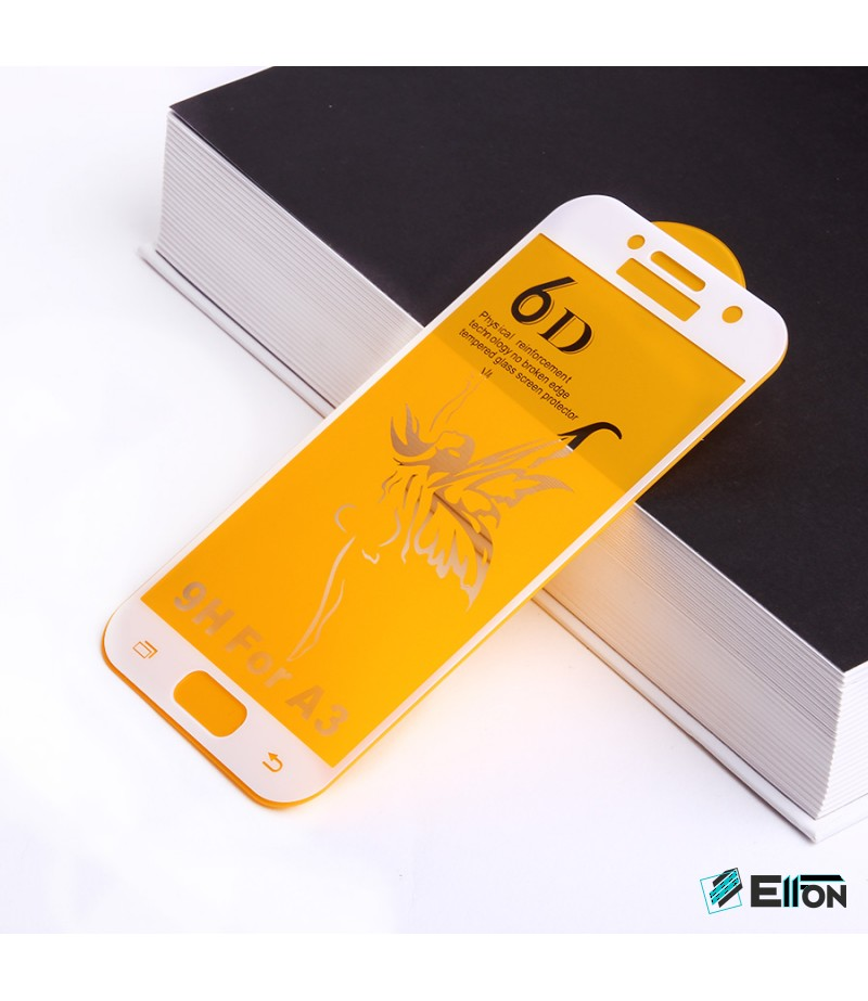 Full Glue Curved Tempered Glass Screen Protector für Samsung A3 (2017)/ A320, Art:000298